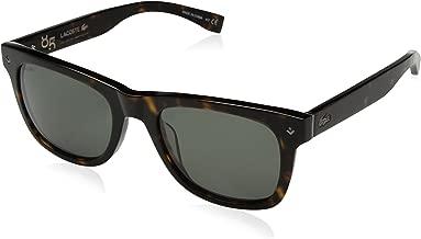 Lacoste للجنسين l878s البلاستيك 85° السنوية l.12.12النظارات الشمسية المستطيلة ، havana ، 52mm