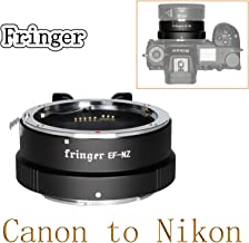 Fringer EF-NZ Canon to Nikon Lens Adapter Auto Focus Adapter Ring Compatible with Canon EF Lens to Nikon Z Mount Z5 Z6 Z7 Z50 Cameras Adapters