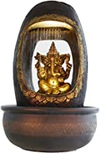 Chronikle Polystone Ganesha Indoor Water Fountain with Moter Pump and Light
