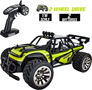 Rainbrace Remote Control Car RC Cars 1/16 High Speed 4x4 RC Truck Off Road All Terrain RC Buggy Vehicles 4WD Rock Crawler Remote Control Truck Electric RC Racing Car Toy for 6 Years Old Boys Kids Gift