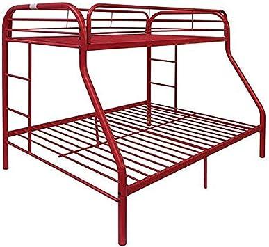 Amazon Com Acme Tritan Red Twin Over Full Bunk Bed Furniture Decor