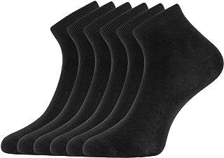 oodji Ultra, Mujer Calcetines Tobilleros (Pack de 6), Negro, 35-37