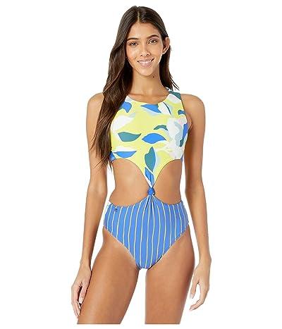 Maaji Sunflower Spin Four-Way Reversible One-Piece Swimsuit (Pacific Blue) Women