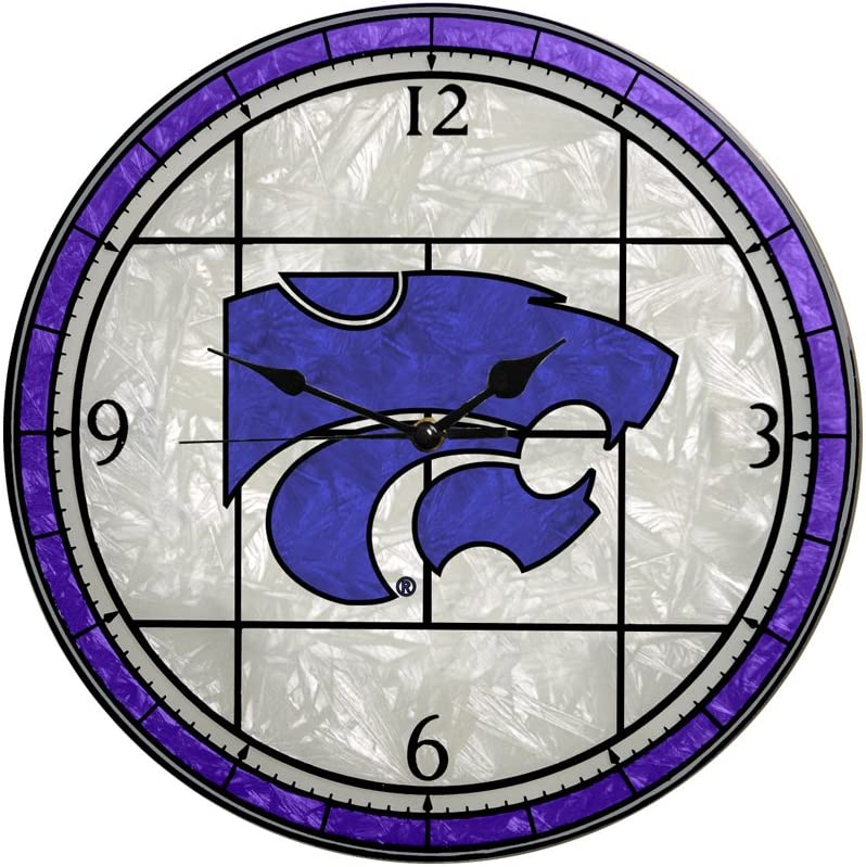 Memory Company Kansas Limited Max 50% OFF time for free shipping State Wildcats 12in Art Clock Glass