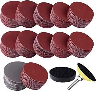 """300PCS 2 Inches Sanding Discs Pad Kits, Sandpaper Hook and Loop Disc Pad with Sponge Cushion & 1/4"""" Shank Includes 60-3000..."""