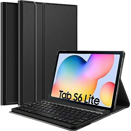 FONCBIEN Funda con Teclado para Samsung Galaxy Tab s6 Lite, Funda con Teclado Bluetooth Desmontable, Teclado Retroiluminado Compatible con Funda ...