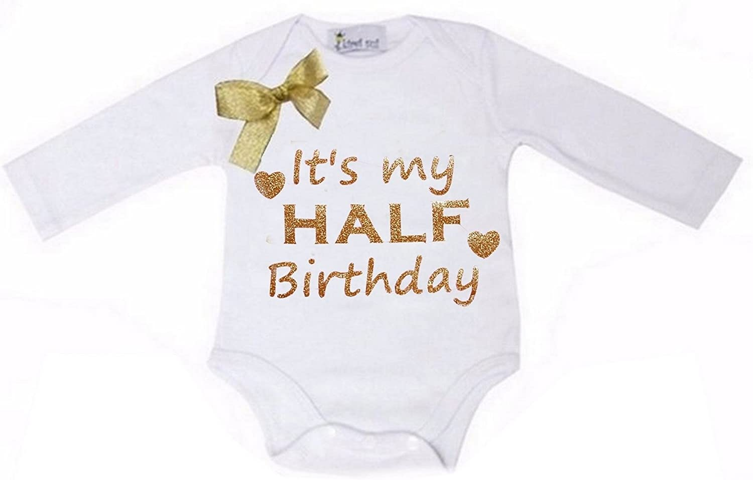 Kirei Ultra-Cheap Deals Sui Baby Gold Birthday Bodysuit Sparkle Half Online limited product