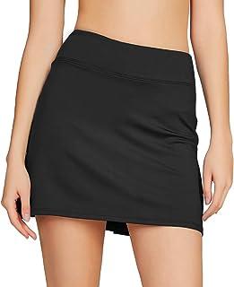 Westkun Women's Basic Golf Underneath Short Skort Black Ladies Tennis Skirt Running Fashion Plus Size 16 14 with Pockets H...