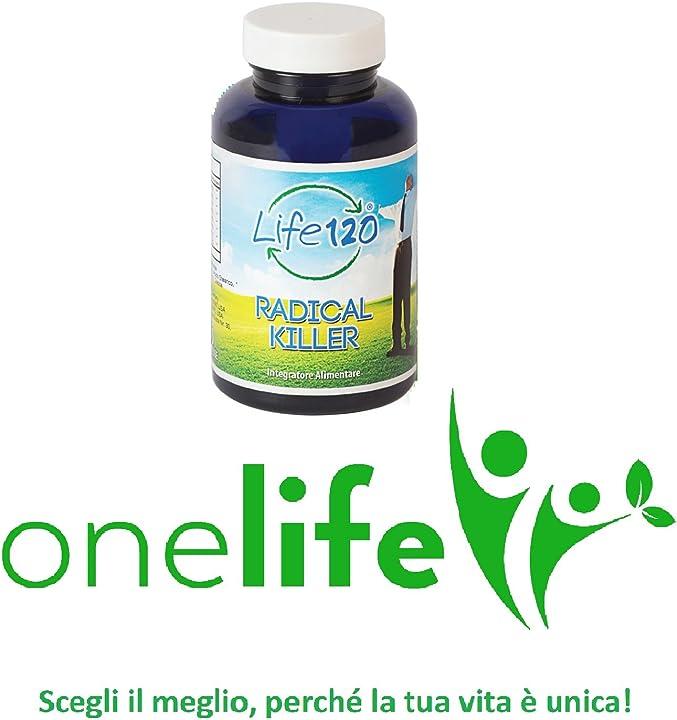 Radical killer life 120|integratore alimentare naturale 90 compresse efficace contro invecchiamento cellulare 0806802819143