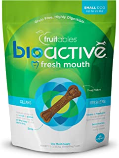 Fruitables 15 Count Bioactive Fresh Mouth Dental Chews, Small/7.3 Oz