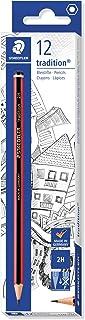Staedtler Tradition 110-2H Pencil 2H, Black (Box of 12)