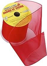 Morex Ribbon Wired 4-Inch Chiffon Ribbon with 10-Yard Spool, Red