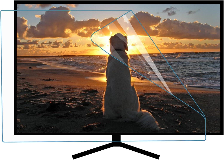 ZLSD 50 Pulgadas TV Protector Pantalla HD Película Antirrayas Lesión, Sin Burbuja, Personalizable, Luz Anti-Azul, Adecuado para Monitores LCD, Televisores, Pcs,HD-50inch(1101x620MM)