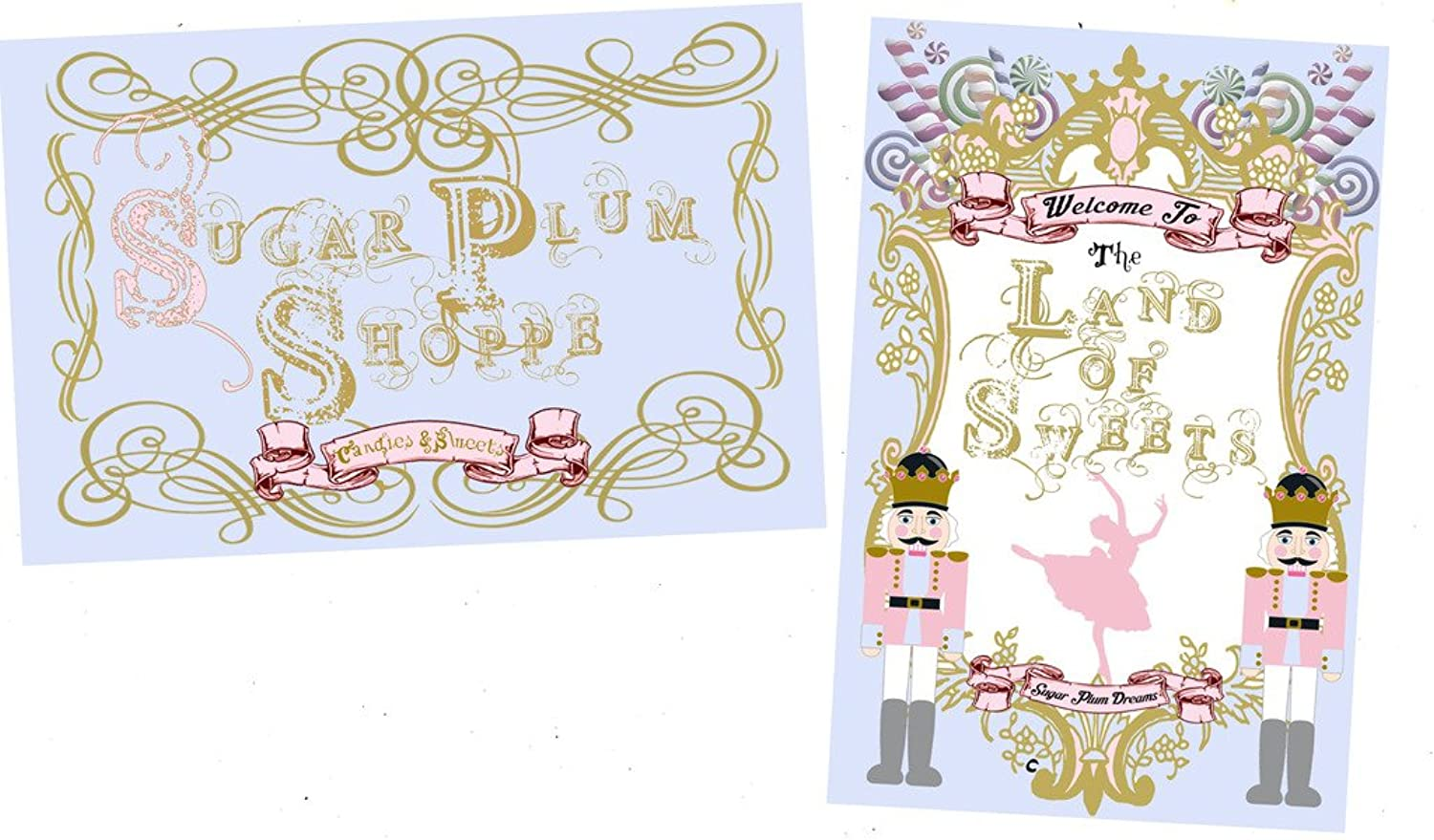Nutcracker Themed Party Supply and Decorations (Land of Sweets Decor Set)