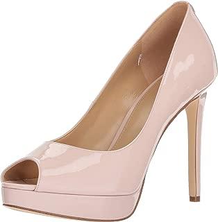 Michael Michael Kors Womens Erika Patent Leather Peep Toe Platform Heels