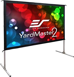 Elite Screens Yard Master 2, 100-inch Indoor Outdoor Portable Fast Folding Projector Screen with Stand 16:9, 8K 4K Ultra H...