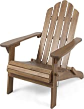 Christopher Knight Home 305374 Cara Outdoor Foldable Acacia Wood Adirondack Chair, Dark Brown Finish