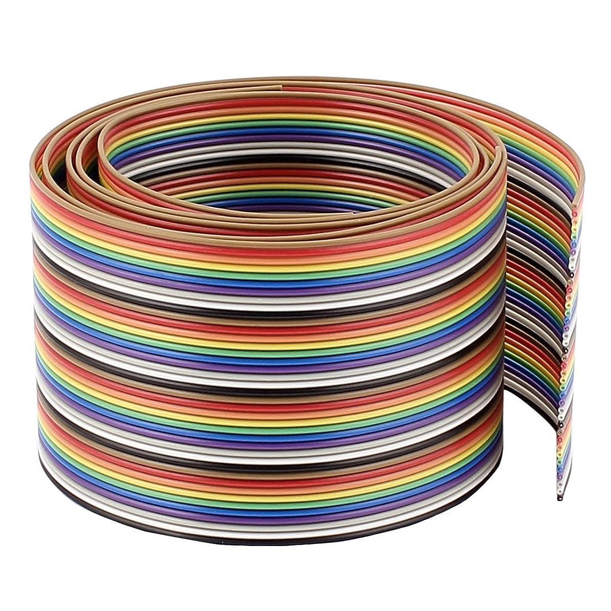 休暇心から花瓶40ピン40ウェイフラットIDCリボンケーブルコネクタ50センチメートル2PCS虹色