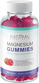 Sugar Free Magnesium Gummies - 60 Gummies, Calming Anti-Stress Gummies, Magnesium Supplement for Kids and Adults, Vegan, G...
