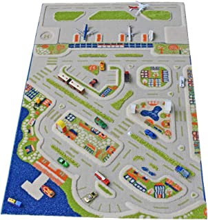 IVI Mini City Thick 3D Kids Car Rug, 39 x 59 inches,...