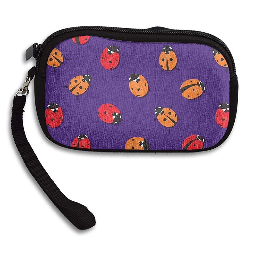 保育園夜間占めるRFVED Rainbows and Fairies Ladybugs Canvas Coin Purse Student Pencil Case Pen Pouch Cosmetic Makeup Bag Cosmetic Organizer Multipurpose Pouches-one_color-