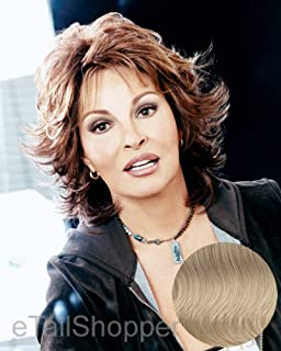 Raquel Welch Breeze, Short Textured Layers With A Feathered Bob Style Hair Wig For Women, R14/88H Golden Wheat by Hairuwear