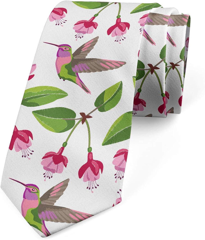 Lunarable Men's Tie, Retro Exotic Animal, Necktie, 3.7