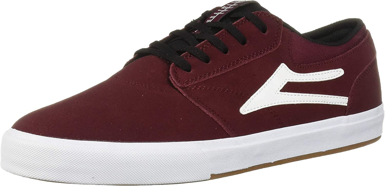 Lakai Unisex's Footwear Griffin Burgundy Black SUEDESize 5 Tennis shoes, Suede, 5 M US