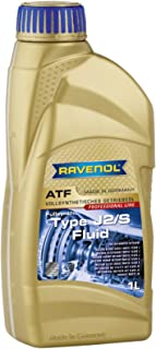 RAVENOL J1D2155 ATF (Automatic Transmission Fluid) - J2/S Fluid Full Synthetic for 5, 6, and 7-Speed JACTO Automatic Transmissions (1 Liter)
