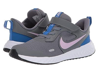 Nike Kids Revolution 5 (Little Kid) (Smoke Grey/Iced Lilac/White/Soar) Girls Shoes