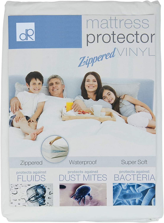 DecorRack 6 Queen Mattress Predector, Zippered Waterproof Vinyl Queen Size Soft Bed Cover, Bed Bug Bacteria Zip Mattress Predector, Heavy Duty Vinyl Free Mattress Topper Pad 7 inch Deep (Set of 6)