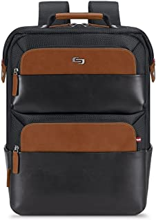 """Solo East Hampton 15.6"""" Laptop Backpack Briefcase, Black, One Size"""
