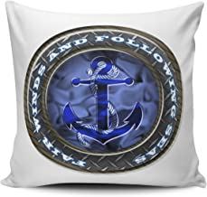 Fanaing Blue and White Fair Winds and Following Seas 18X18 Inch Square Throw Pillow Case Decor Cushion Covers One-Side Printed
