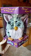 FURBY SILVER WITH BLACK SPOTS AND PINK TUMMY, PINK INNER EARS MODEL 70-800