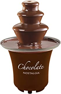 Nostalgia 8-Ounce Chocolate Fondue Fountain, Half-Pound Capacity, Easy to Assemble 3-Tiers, Perfect For Nacho Cheese, BBQ ...