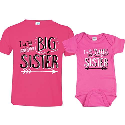 a67432449 Texas Tees Sibling Shirts for Sister and Brother, Hipster Design, Includes  Big Sister to