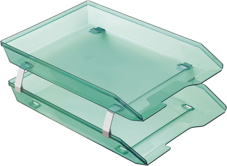 Acrimet Facility 2 Tier Letter Tray Front Desktop Fresno Mall Seattle Mall Load Plastic F