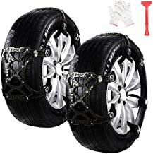 Car Snow Chains 6pcs Anti Slip Snow Skid Chains Universal Adjustable Tire Snow Chains Winter for Hyundai Cars/SUV/Truck/ATV Anti-Skip, Snow, Mud and Sand Tire Traction Device, Tire Width with 7