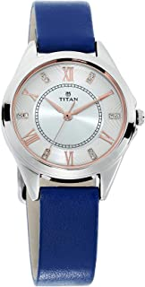 2565SL01 - Titan Sparkle Ladies, 50m Water Resistant, White Dial, Blue leather Strap