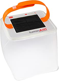 LuminAID PackLite Terra Solar Inflatable Camping and Hurricane Emergency Lantern