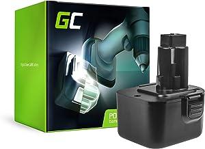 GC® (2Ah 12V Ni-MH cellen) Batterij Vervangend batterijpakket voor Black & Decker KC2000F Elektrisch gereedschap