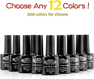 Perfect Summer Pick ANY 12 Colors! UV/LED Colors Gel Polish Soak Off Nail Lacquers Mood Changing French Manicure Nail Art Kit( Pick Any 12 Colors and Email US!)