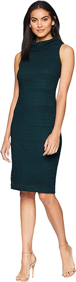 Cable Knit Lace Sheath