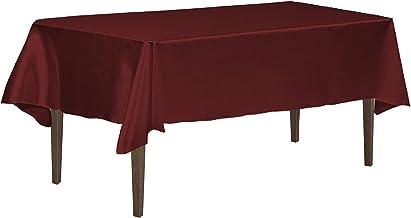 LinenTablecloth 126 Inch Rectangular Tablecloth Burgundy