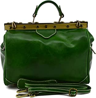 Borsa Da Medico In Pelle Colore Verde - Pelletteria Toscana Made In Italy - Business