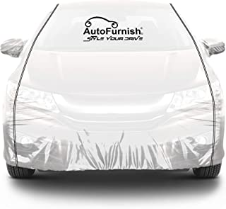 Parkin White See Through Car Body Cover with Black Piping Compatible with Renault Duster - Parkin White