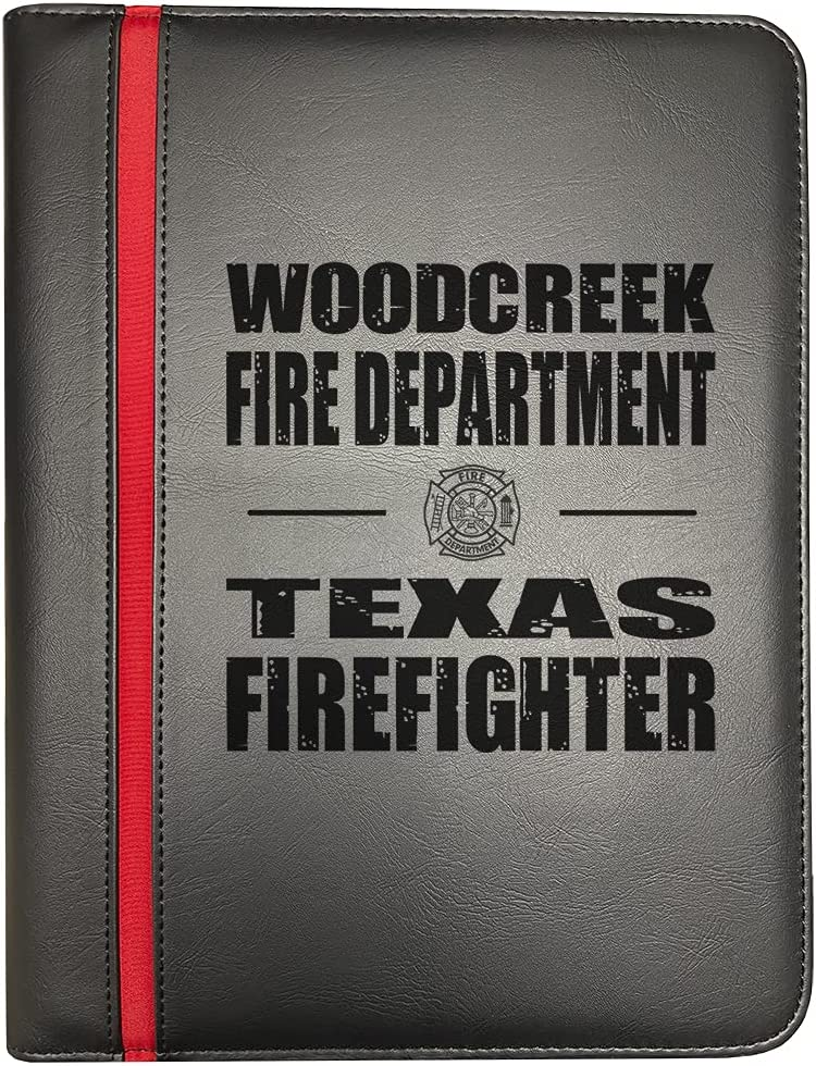 Max 63% OFF Woodcreek Texas Fire Departments Firefighter Line Firef Thin New product type Red