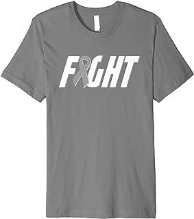 Fight Brain Cancer Shirt - Gray Ribbon Tumor Awareness Tee