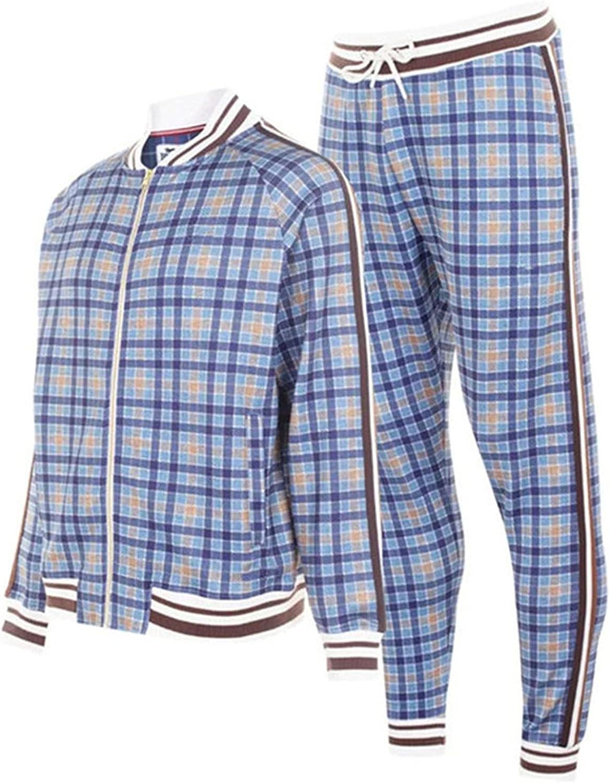 Mens Stripe Tracksuit Large discharge sale 2 Piece Sweatsuit Pants Casual Coat Hoodie Rare