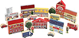 Melissa and Doug Town Blocks Play Set 533 Construction, Building Sets, & Blocks